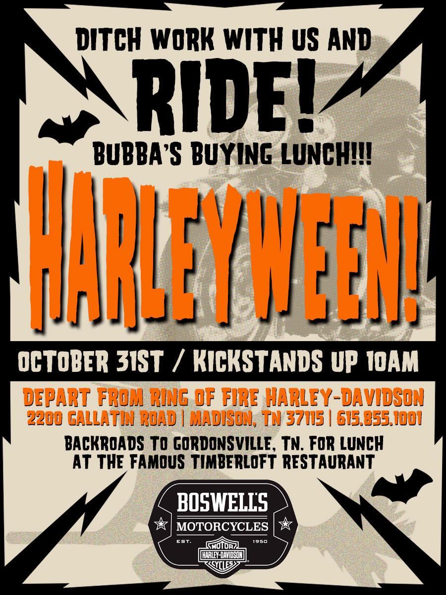 Bubba's Ditch Work Harleyween Ride-2018
