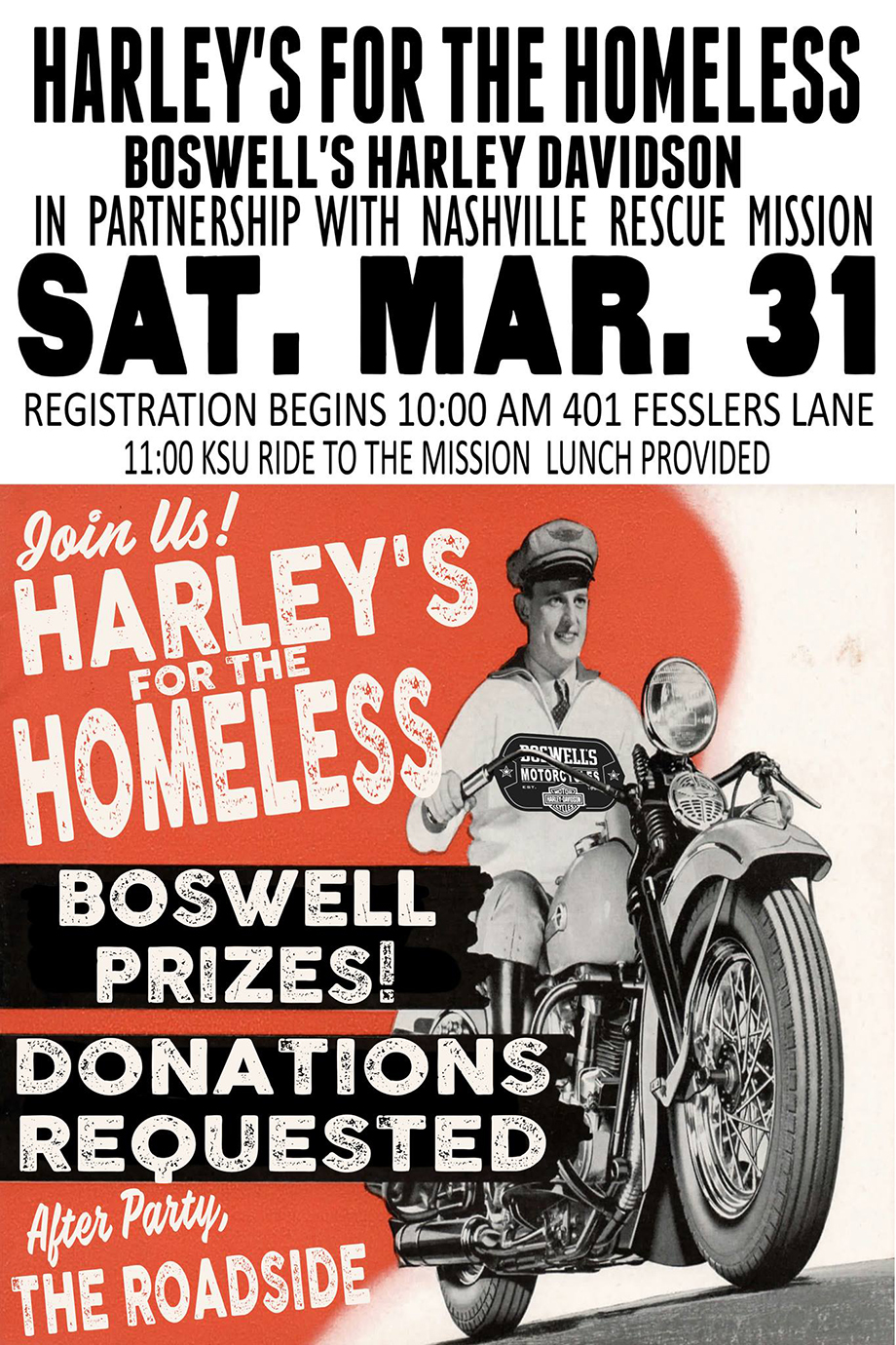 Harley's For The Homeless